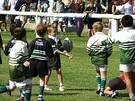 Entrenamiento de rugby para niños