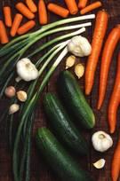 Tabla de calorías en las verduras